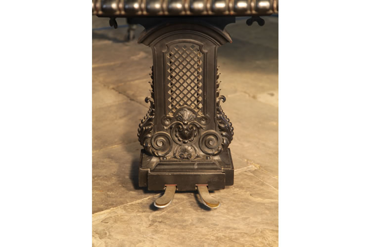Ornately carved piano lyre