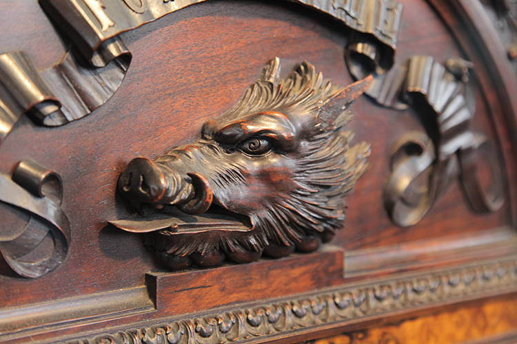 The boar's head  is the crest badge of the Campbells of Breadalbane