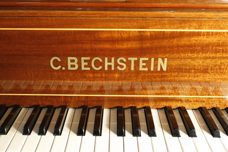 Bechstein brass name plate on fall