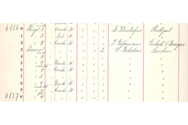 Bechstein Company Records Provenance