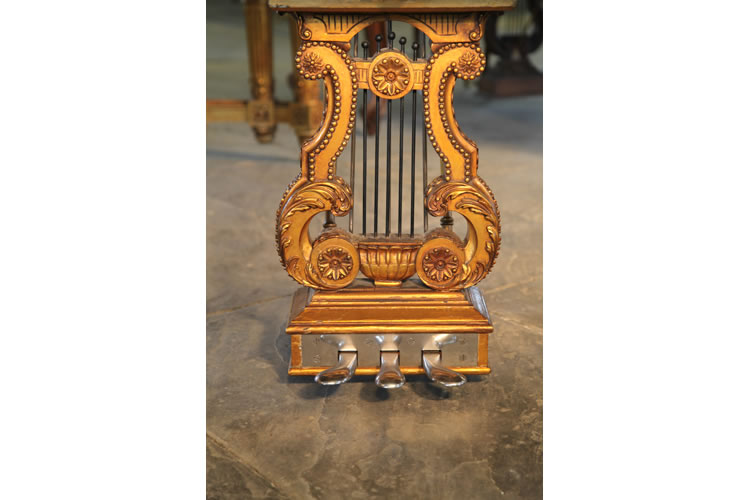 Ornate piano lyre