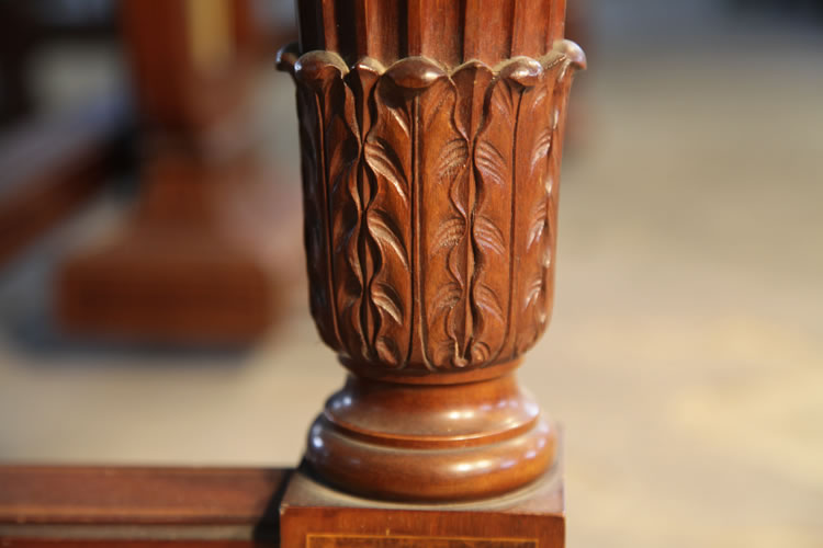 Bechstein model E carved piano leg detail