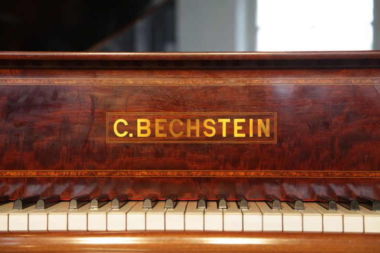 C. Bechstein name on piano fall in brass