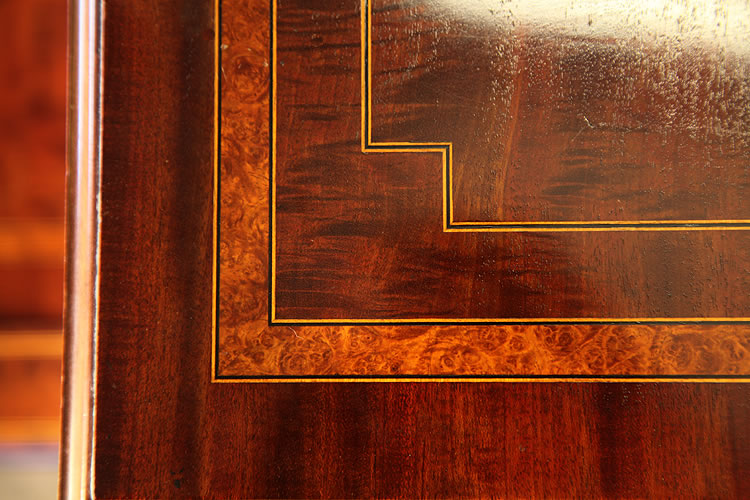 Inlaid satinwood, walnut and boxwood stringing