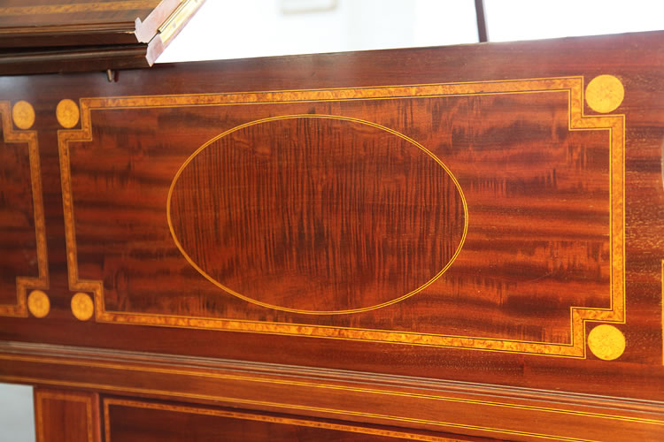 Detail of piano cabinet inlay
